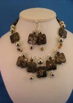 Natural Stone Necklace & Earrings